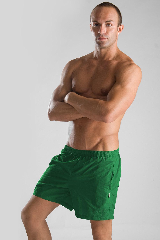 GERONIMO férfi short szabású fürdőnadrág zöld zöld S