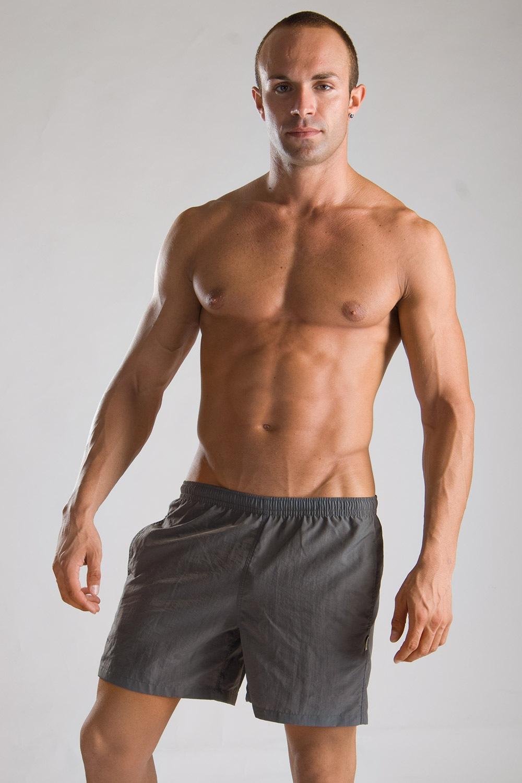 GERONIMO short szabásű férfi fürdőnadrág szürke szürke S