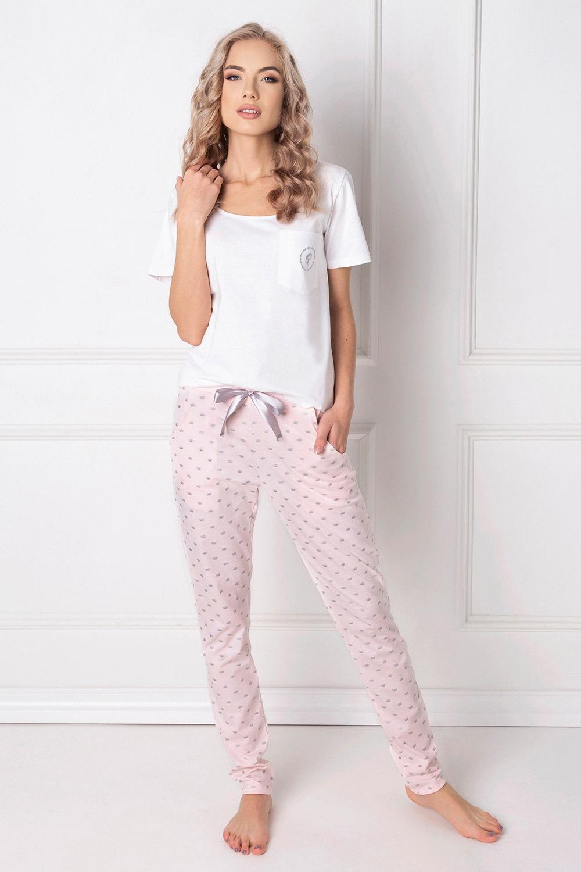 Queen női pizsama, hosszú fehér S