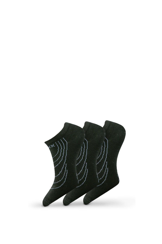 Rex 02 zokni fekete, 3 pár 1 csomagban fekete 43-46