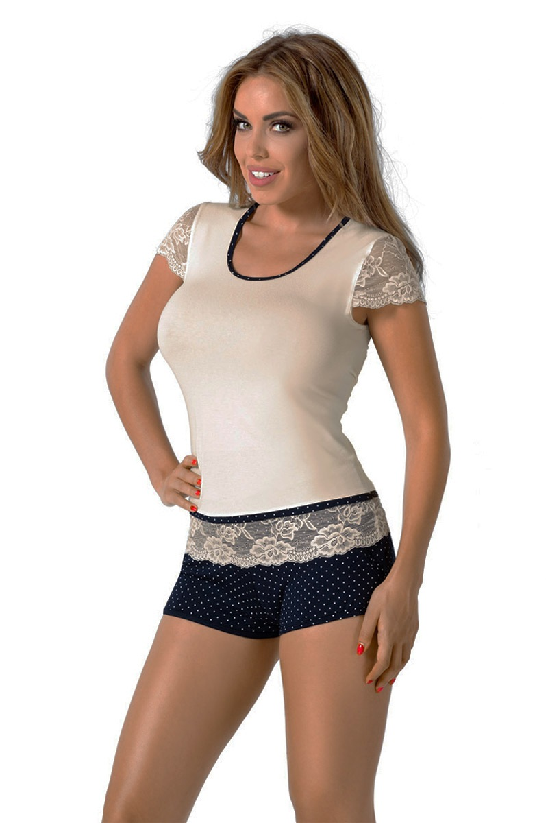 Roxy Navy női pizsama ekrü S