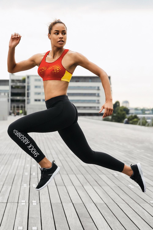 Active női sport leggings fekete XS
