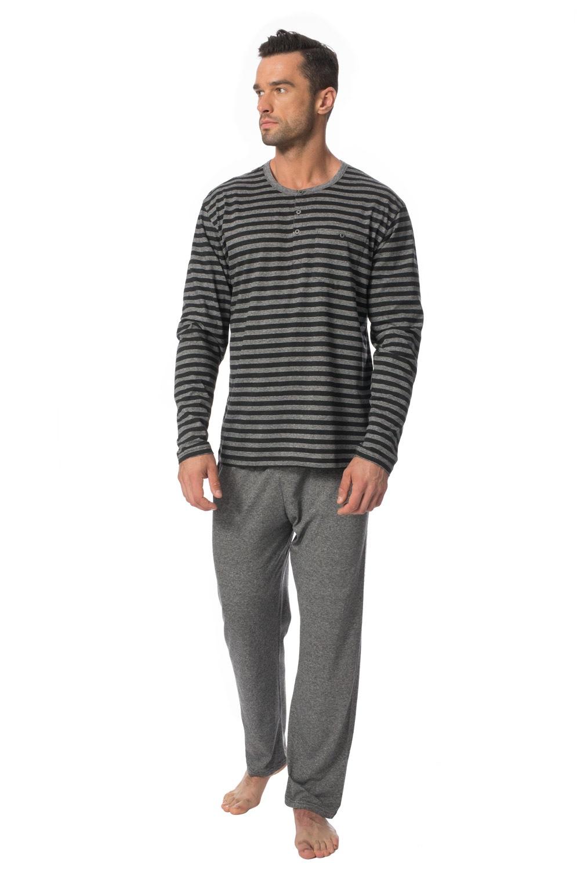 ROSSLI Ambroise férfi pizsama szürke M