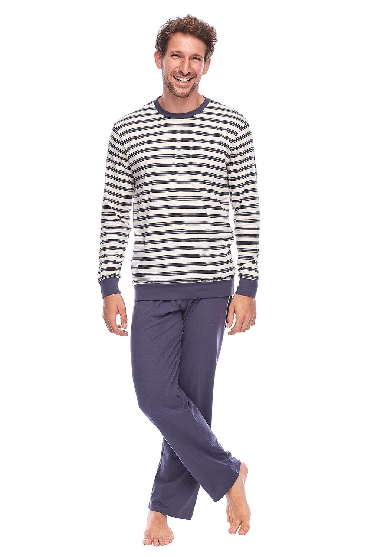 ROSSLI Aurelian férfi pizsama szürkés-bézs M