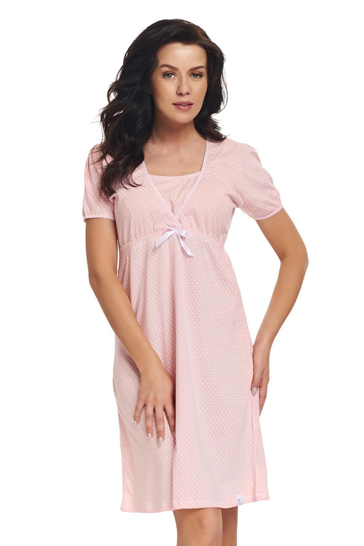 Laura kismama szoptatós hálóing rózsaszín S