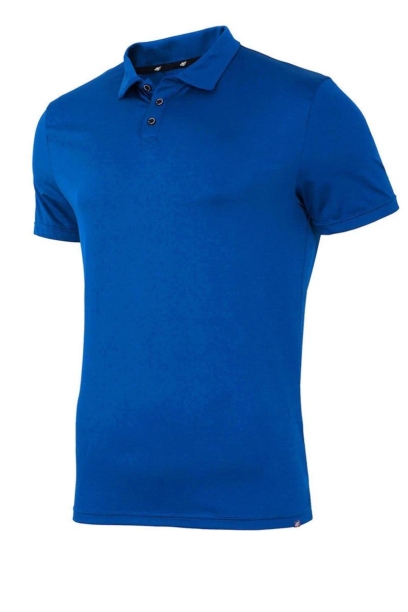 4F Dry Control galléros férfi póló kék S