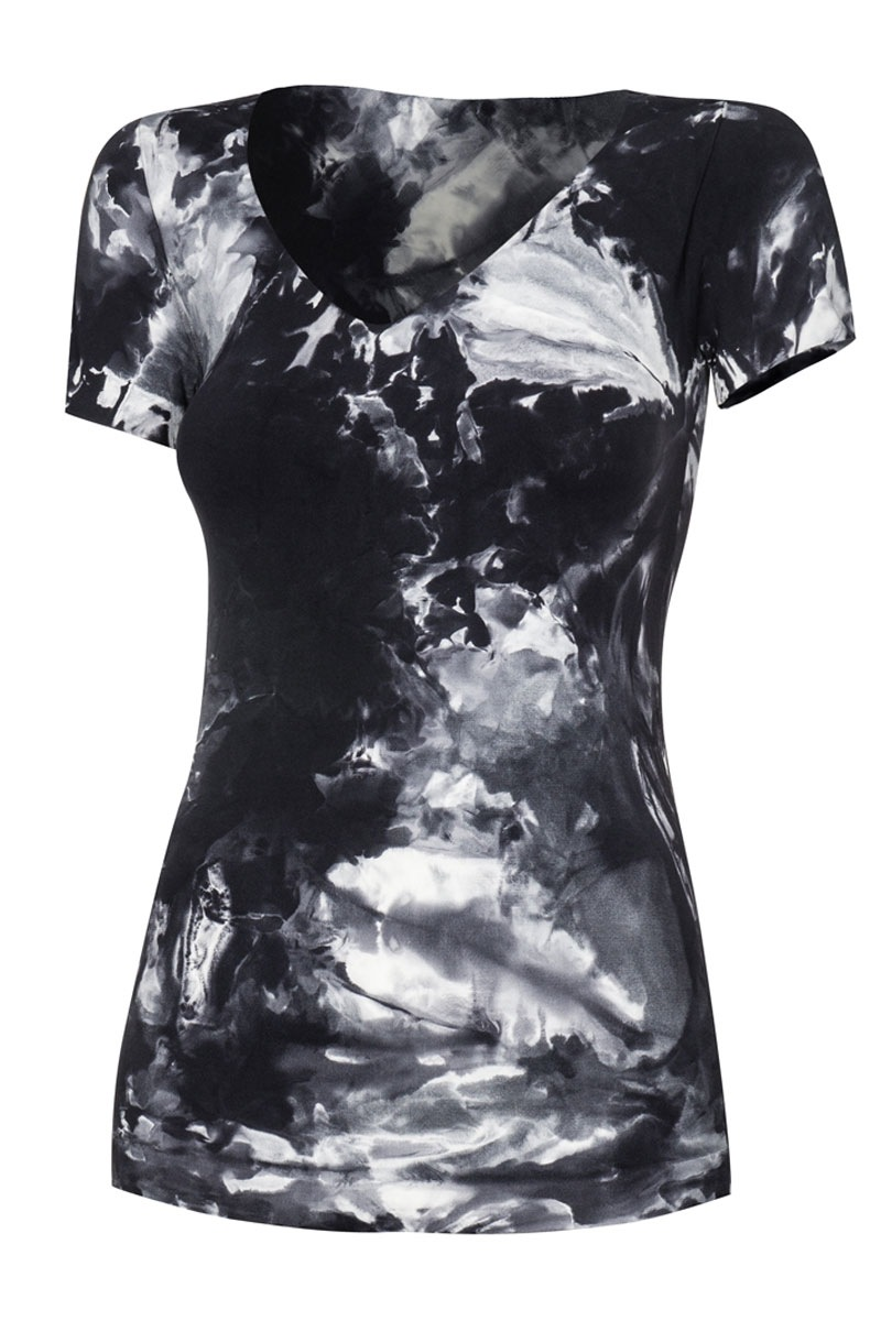 Fitness női sport póló fekete S/M
