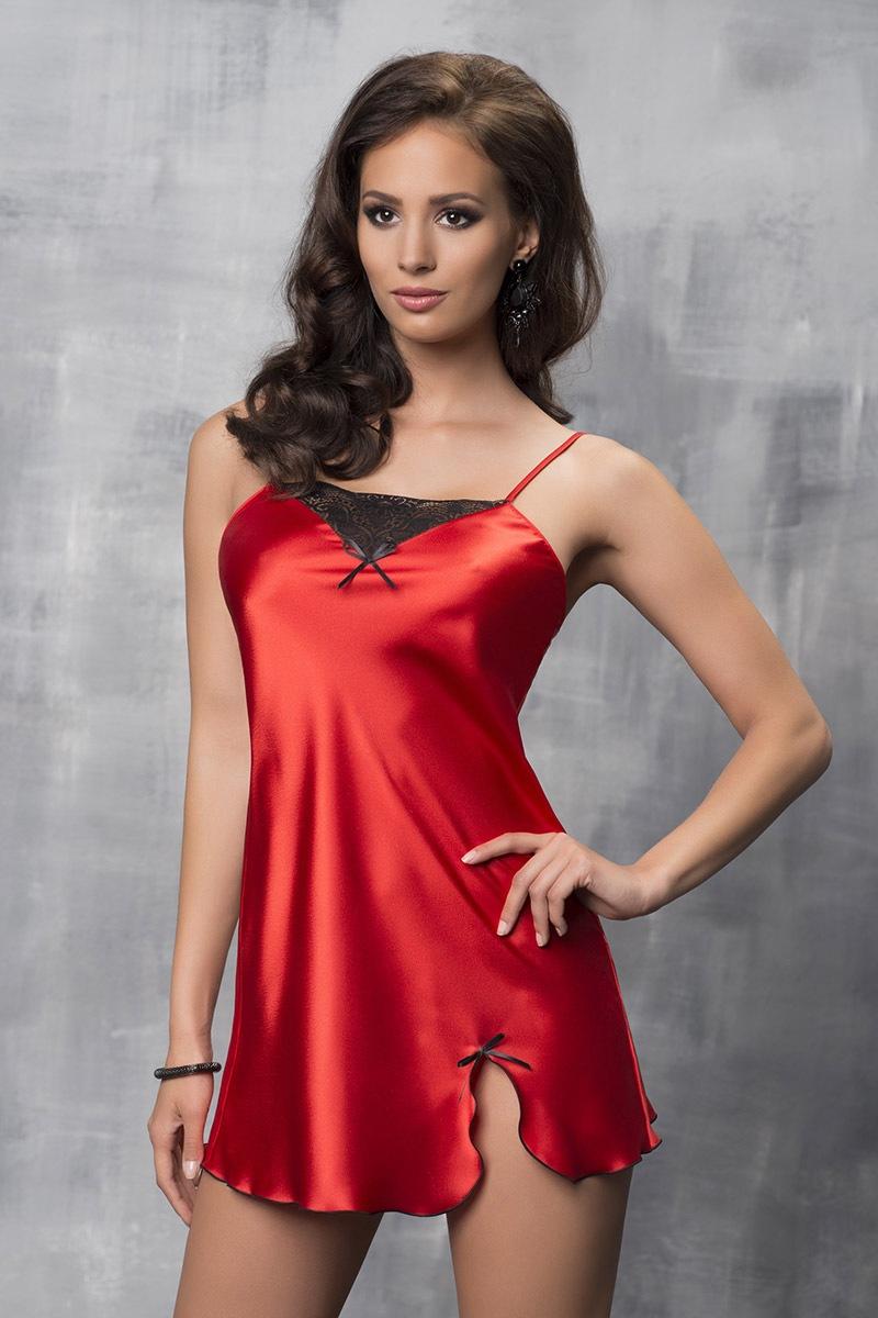 Tara Red luxus szatén hálóing piros L
