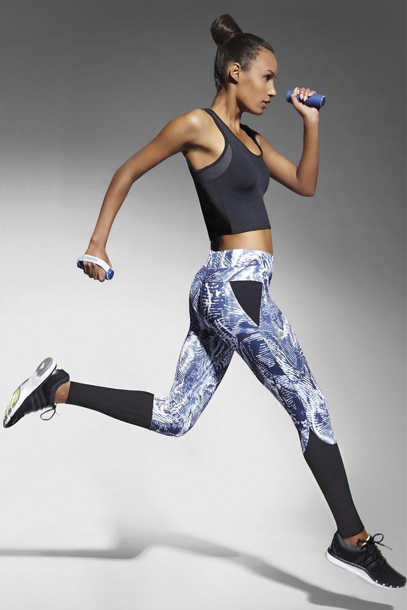 Trixi sport leggings fehér-kék 2