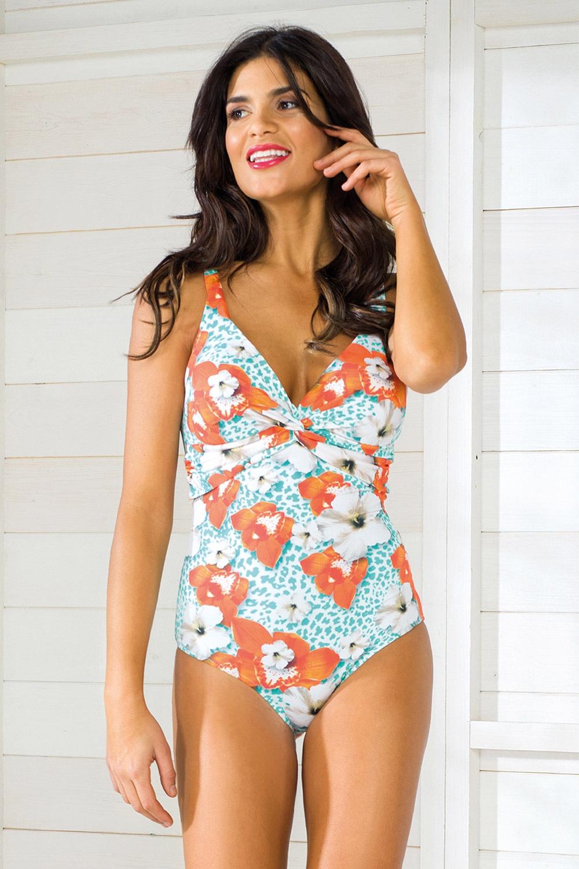 Vacanze Luxury egyrészes női fürdőruha, merevítők nélkül színes 38