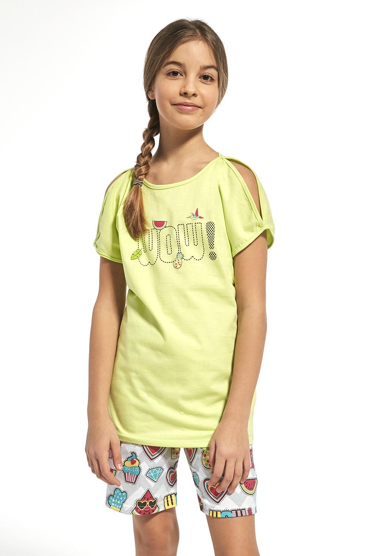 Wow lányka pizsama zöld 134/140